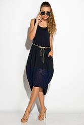 Платье женское 120P008 (Темно-синий)
