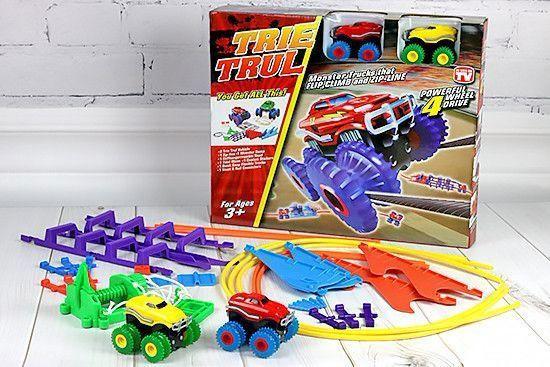 Игровой набор канатный детский трек Trix Trux Monster Trucks 2 машинки