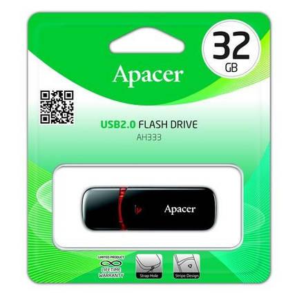 Флеш пам`ять Apacer AH333 32GB Black, фото 2