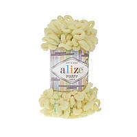 Пряжа с петлями петельками Alize Puffy Color 5857 (Ализе Пуффи Колор Алізе Пуффі)для вязания без спиц руками