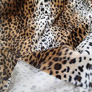 Искусственный мех коротковорсовый леопард