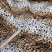 Искусственный мех коротковорсовый леопард, фото 3
