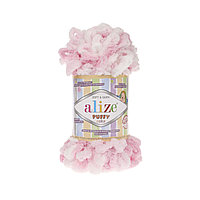 Пряжа с петлями петельками Alize Puffy Color 5863 (Ализе Пуффи Колор Алізе Пуффі)для вязания без спиц руками