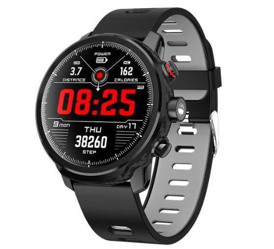 Умные часы Smart Watch KingWear L5 Black/Gray 380 мАч водонепроницаемые с цветным экраном и пульсометром