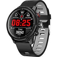 Умные часы Smart Watch KingWear L5 Black/Gray 380 мАч водонепроницаемые с цветным экраном и пульсометром, фото 2