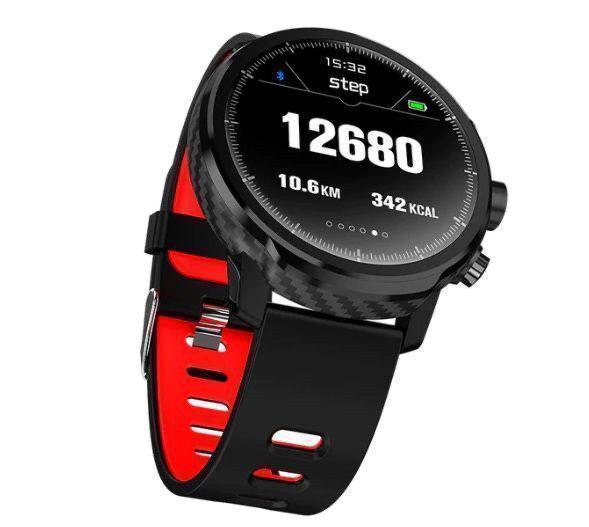 Умные часы Smart Watch KingWear L5 Black/Red 380 мАч водонепроницаемые с цветным экраном и пульсометром