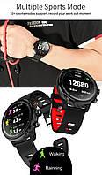 Умные часы Smart Watch KingWear L5 Black/Red 380 мАч водонепроницаемые с цветным экраном и пульсометром, фото 3