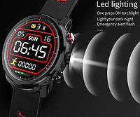 Умные часы Smart Watch KingWear L5 Black/Red 380 мАч водонепроницаемые с цветным экраном и пульсометром, фото 9