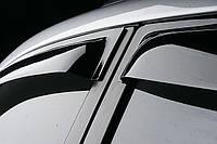 Дефлектора окон Volkswagen Touareg 2010-, 4ч., темный/хром
