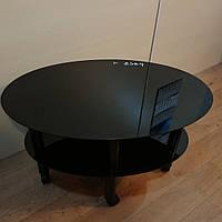 """Журнальний скляний столик Еліпс-міні """"Black"""", фото 1"""