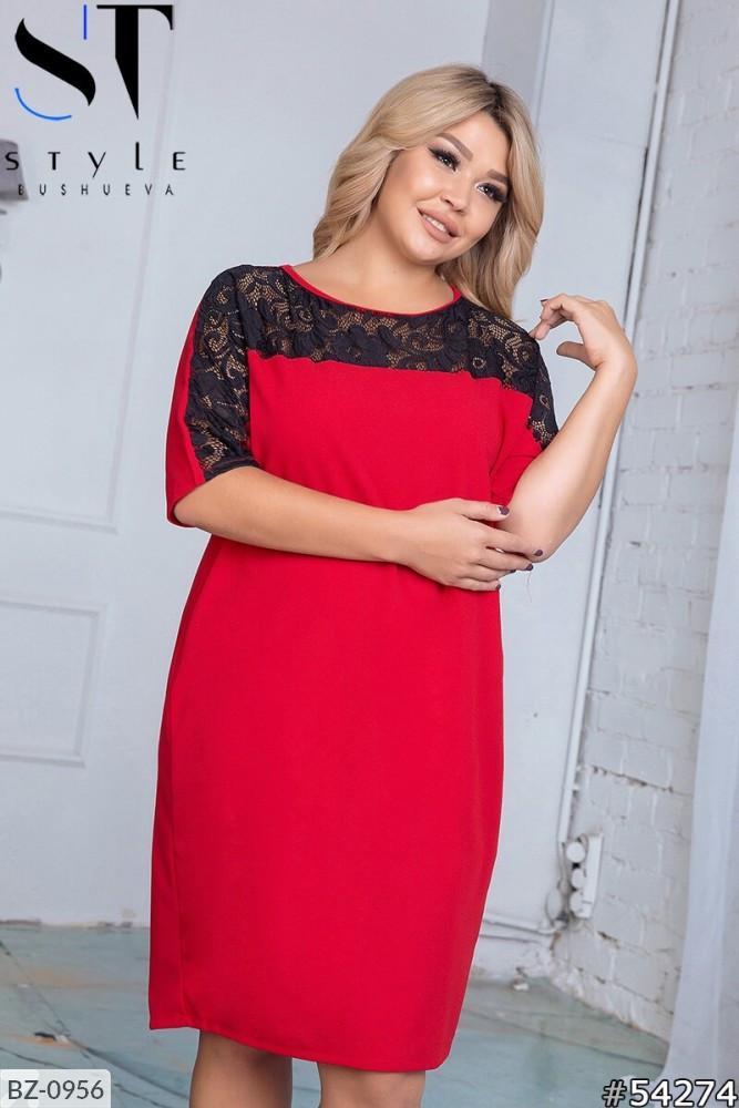 Стильное платье     (размеры 50-60) 0216-12