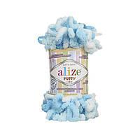 Пряжа с петлями петельками Alize Puffy Color 5924 (Ализе Пуффи Колор Алізе Пуффі)для вязания без спиц руками