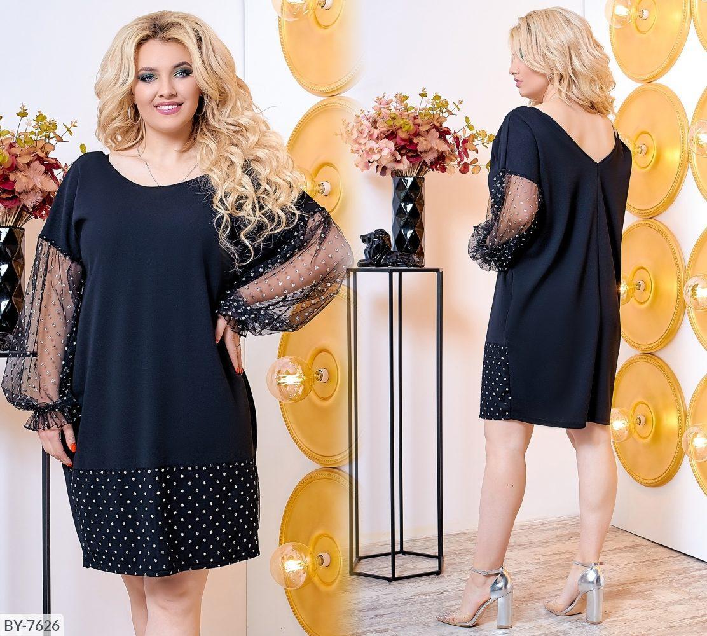 Стильное платье     (размеры 50-60) 0216-15