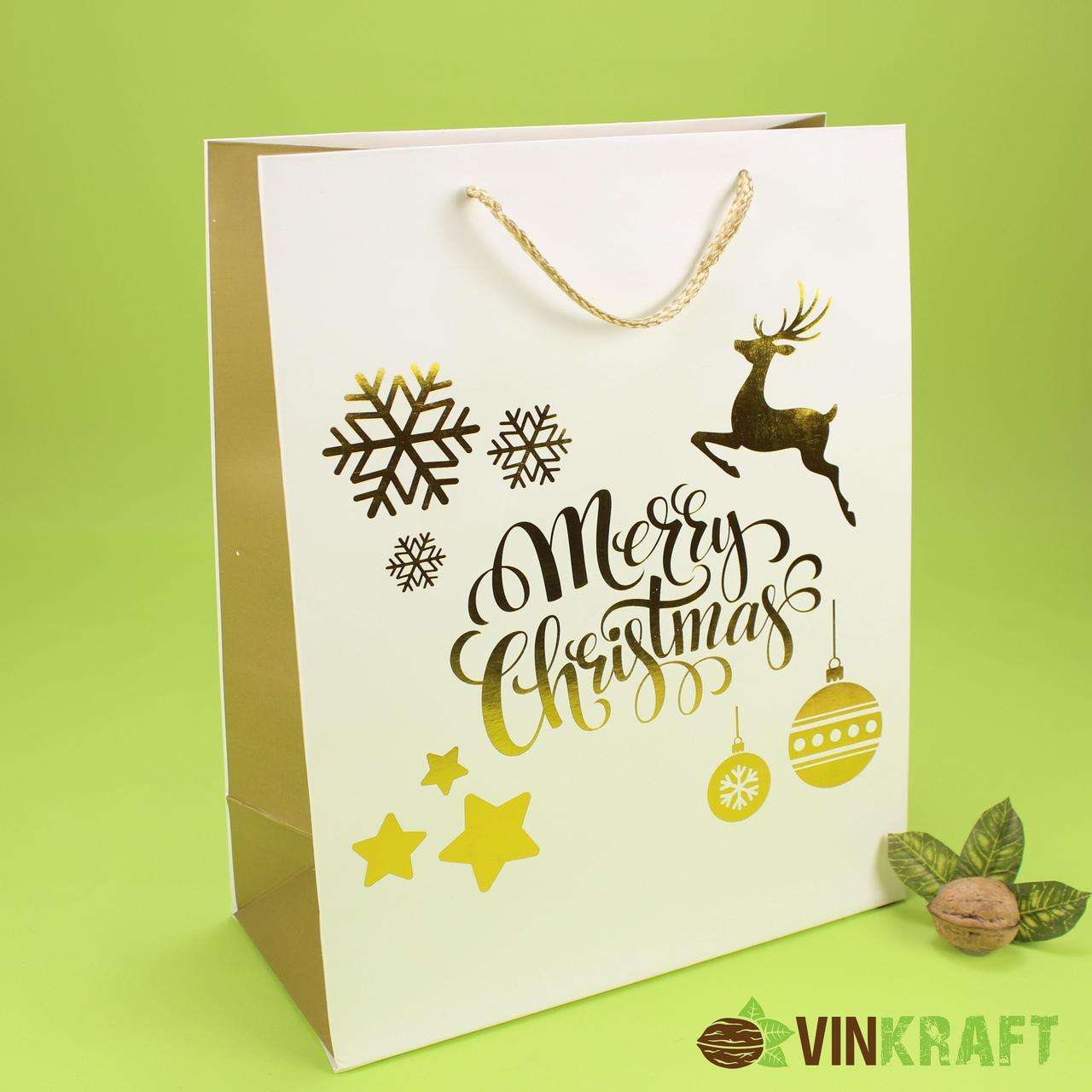 "Подарунковий пакет 260*120*320 ""Merry Christmas 3"""