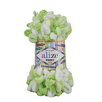 Пряжа с петлями петельками Alize Puffy Color 5937 (Ализе Пуффи Колор Алізе Пуффі)для вязания без спиц руками
