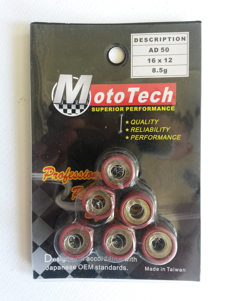 Ролики вариатора 16*12 Suzuki Address/Sepia-50 8,5г Mototech