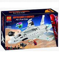 """Конструктор Bela 11315 Lego Super Heroes 76130 """"Реактивный самолёт Старка и атака дрона"""" 528 деталей"""