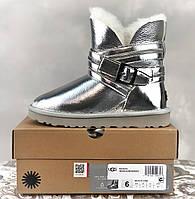Женские зимние ботинки ORIGINAL UGG Classic Short Metallic низкие (фото в живую) оригинальные Угги