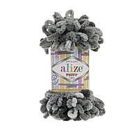 Пряжа с петлями петельками Alize Puffy Color 5882 (Ализе Пуффи Колор Алізе Пуффі)для вязания без спиц руками