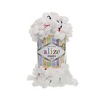 Пряжа с петлями петельками Alize Puffy Color 5961 (Ализе Пуффи Колор Алізе Пуффі)для вязания без спиц руками