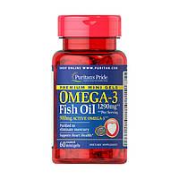 Рыбий жир, Омега Puritans Pride Omega-3 1290mg Mini Gel, 60 softgels