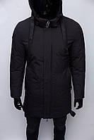 Куртка мужская удлиненная зимняя Zeros Chs Soft Shell 1938 черная