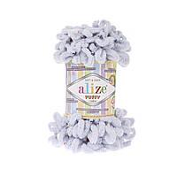 Пряжа с петлями петельками Alize Puffy Color 5805 (Ализе Пуффи Колор Алізе Пуффі)для вязания без спиц руками