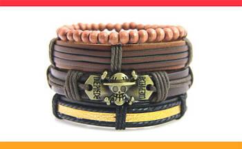 Кожаный браслет 4в1 Стильная Новинка для мужчин и женщин CASTE.L-001