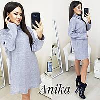 Женское ангоровое платье-туника, фото 1