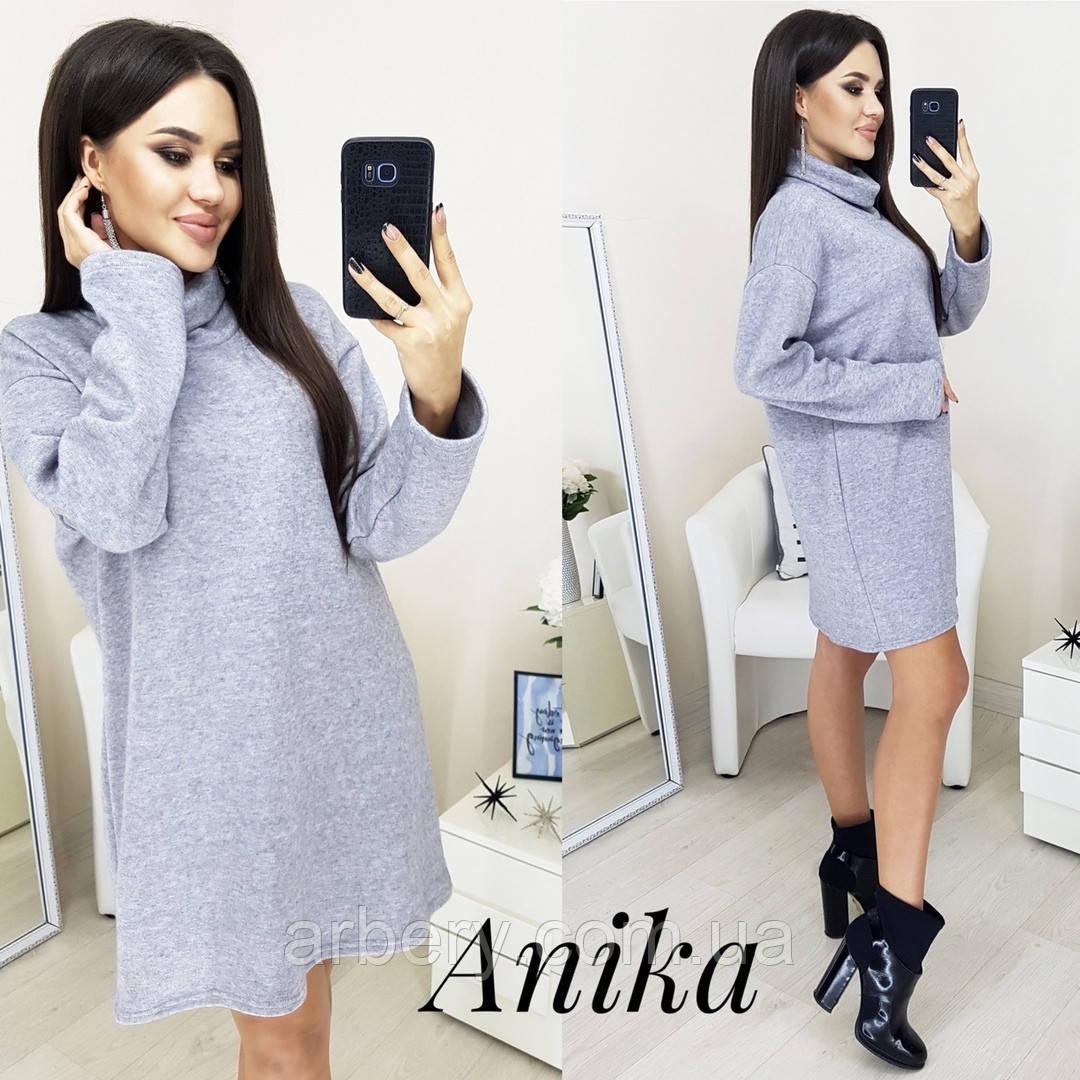 Женское ангоровое платье-туника