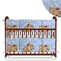 Защита в кроватку ТМ Беби Текс Сладкий сон, голубая - 179873