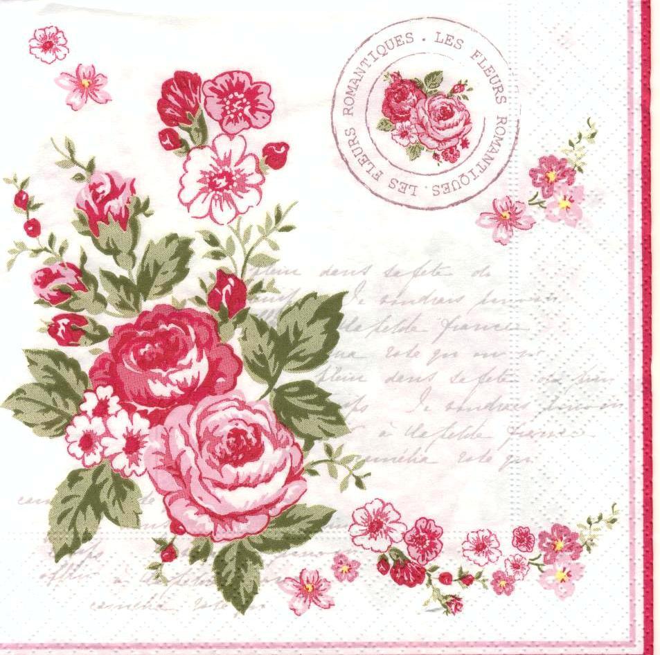 Серветка Романтичні квіти 4899