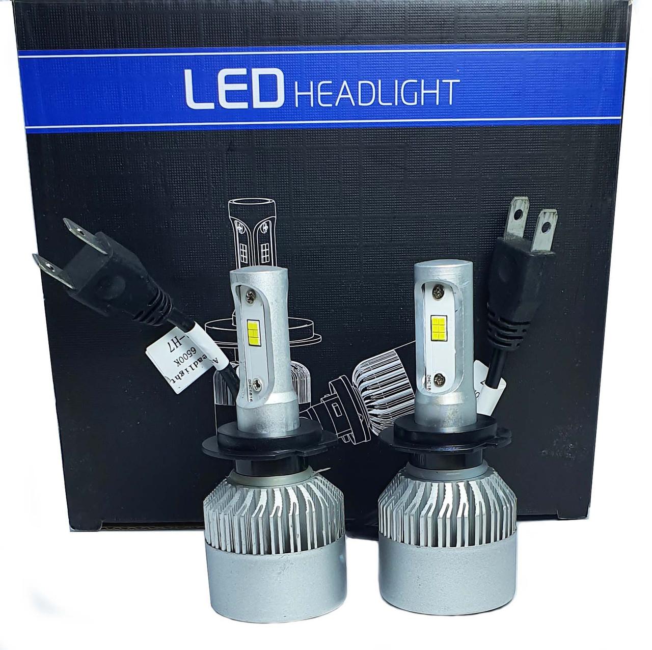Светодиодная лампа цоколь H7, S2 CSP 6500К, 8000 lm 30W, 9-36В