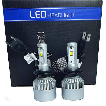 Светодиодная лампа цоколь H7, S2 CSP 6500К, 8000 lm 30W, 9-36В, фото 2