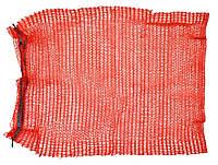 Сетка-мешок для упаковки овощей с завязкой красная, 40х60 см, до 20 кг