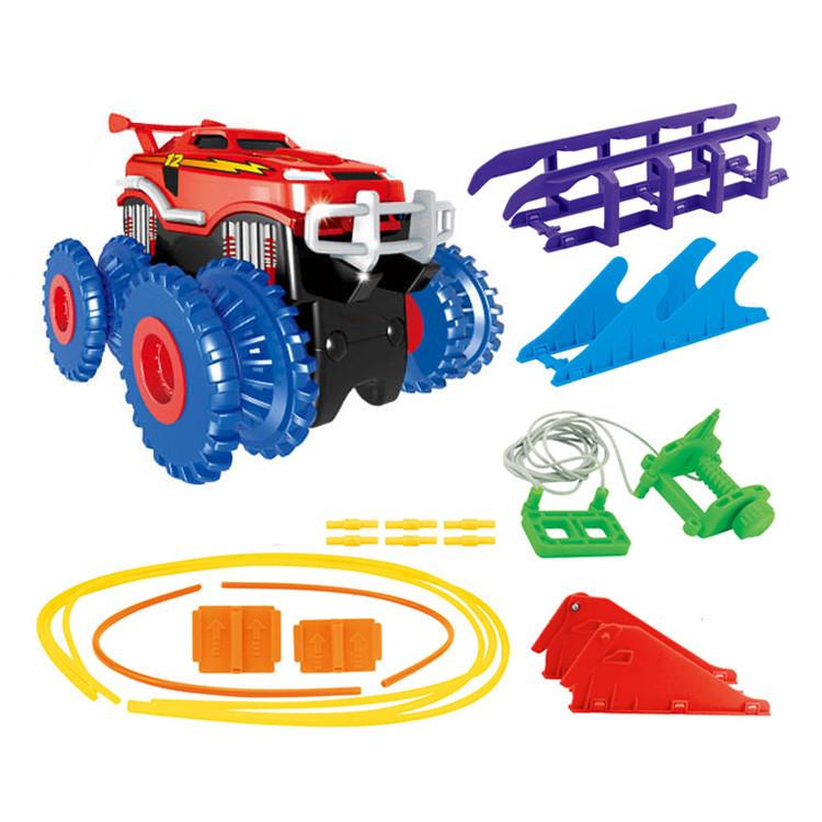 Игровой набор канатный детский трек 2 машинки Trix Trux Monster Trucks