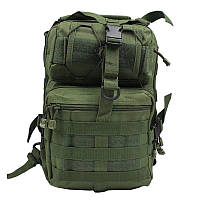 Рюкзак сумка тактическая военная Oxford 600D 20л через плечо Green