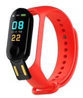 Фитнес браслет Smart Band M3+ Red