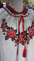 """Женская блуза, вышита в традиционном украинском стиле """"Розы""""., фото 1"""