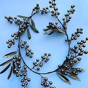 Ветка для новогоднего декора.Ягода золотая( 1 метр), фото 2