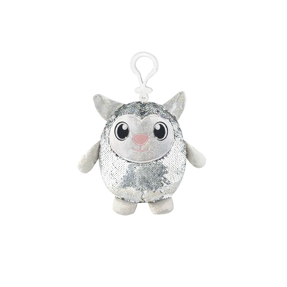 М'яка іграшка з паєтками SHIMMEEZ - гарненько ОВЕЧКА (9 см, на кліпсі)