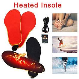 Стельки теплые с подогревом и пультом управления беспроводные REDLINE мужские термо стельки аккумуляторе usb