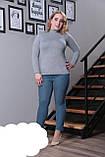 Тепла жіноча водолазка,тканина ангора-софт,розміри:50-52., фото 4