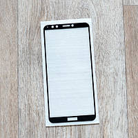 Защитное стекло для Huawei Y7 Prime 2018, Full Cover, black silk
