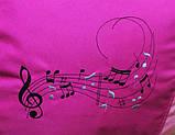 Кресло пуф мешок груша бескаркасная Музыка с именем, фото 3