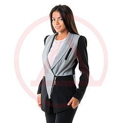 Длинный пиджак женский 1002_ пиджаки для женщин от производителя