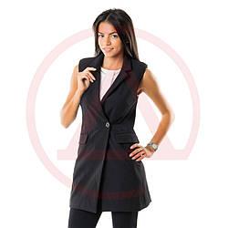 Жилетка женская черная 7003black классический жилет женский Украина