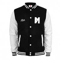 Куртка бомбер тёплая  Maskulin Frank White College Jacket