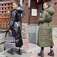 Женская двухсторонняя зимняя теплая куртка, синтепон на силиконе, 42-46, 48-52, 54-58