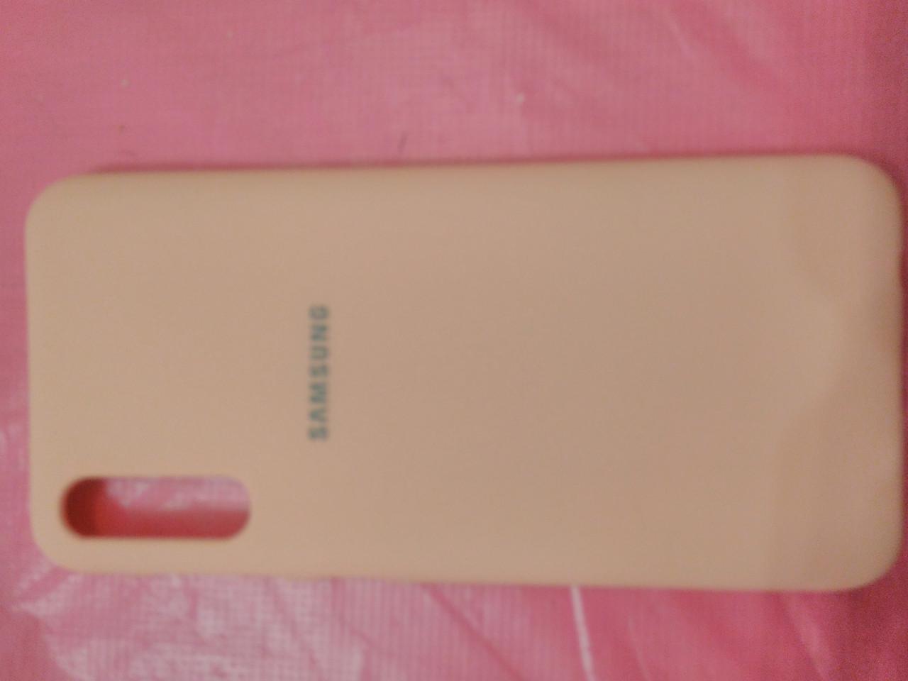 Накладка   Silicon Cover full   для  Samsung A 50  2019 //  A30s  (розовый)